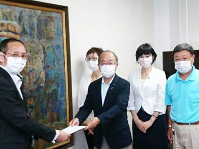 臼杵市役所にて、核廃絶と平和行政に関する要請を行いました