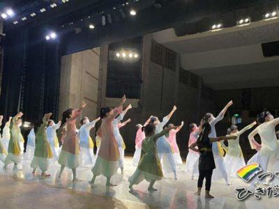 「足立弓子モダンダンススタジオおさらい会」のアナウンスをしました
